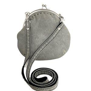 🍀 Lucky Brand Gray Leather Crossbody Handbag